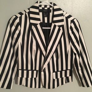 Small Black & White Striped Blazer
